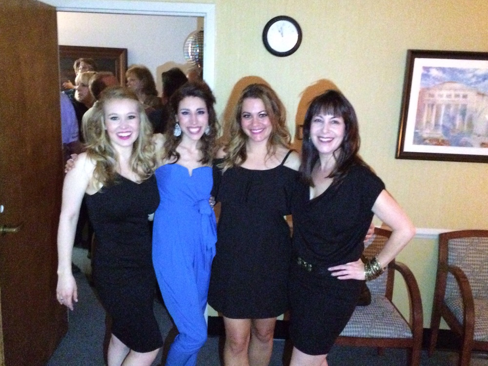 "Opening night party! (Kellie Spill ""Euterpe"", Betsy Norton ""Erato"", Allison Bibicoff - Choreographer)"
