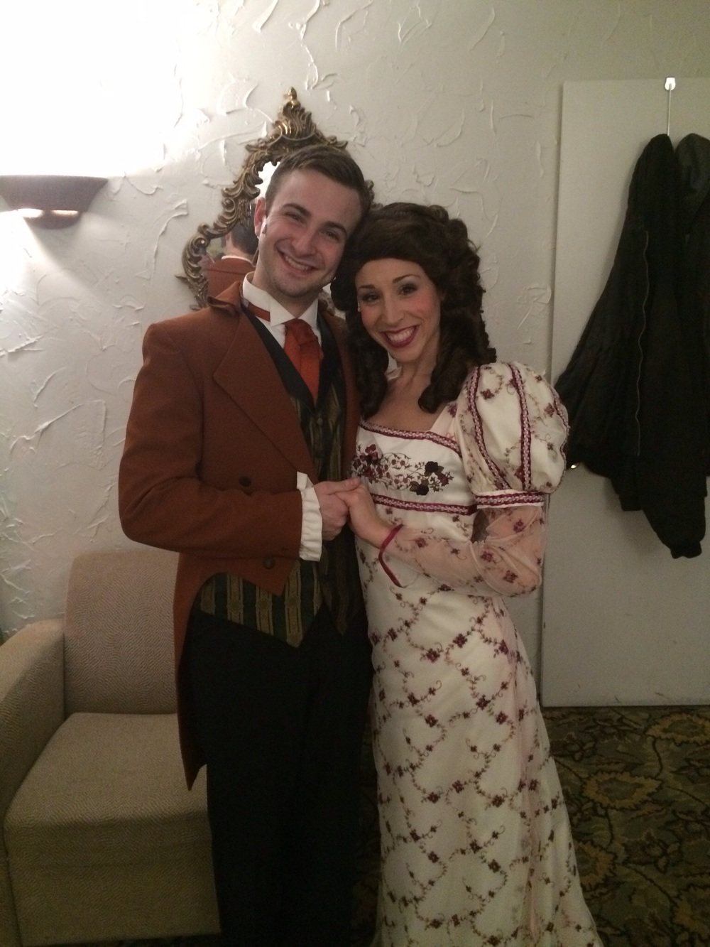 Young Scrooge (Blake Spellacy) and Belle