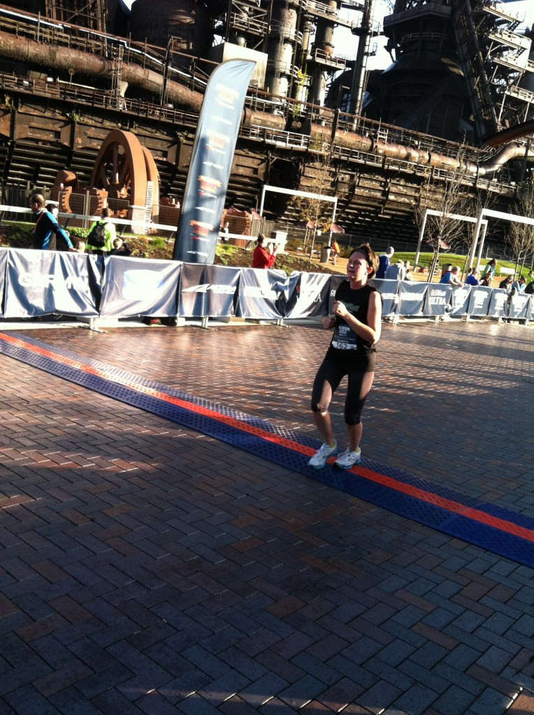 Runner's World 5k finish