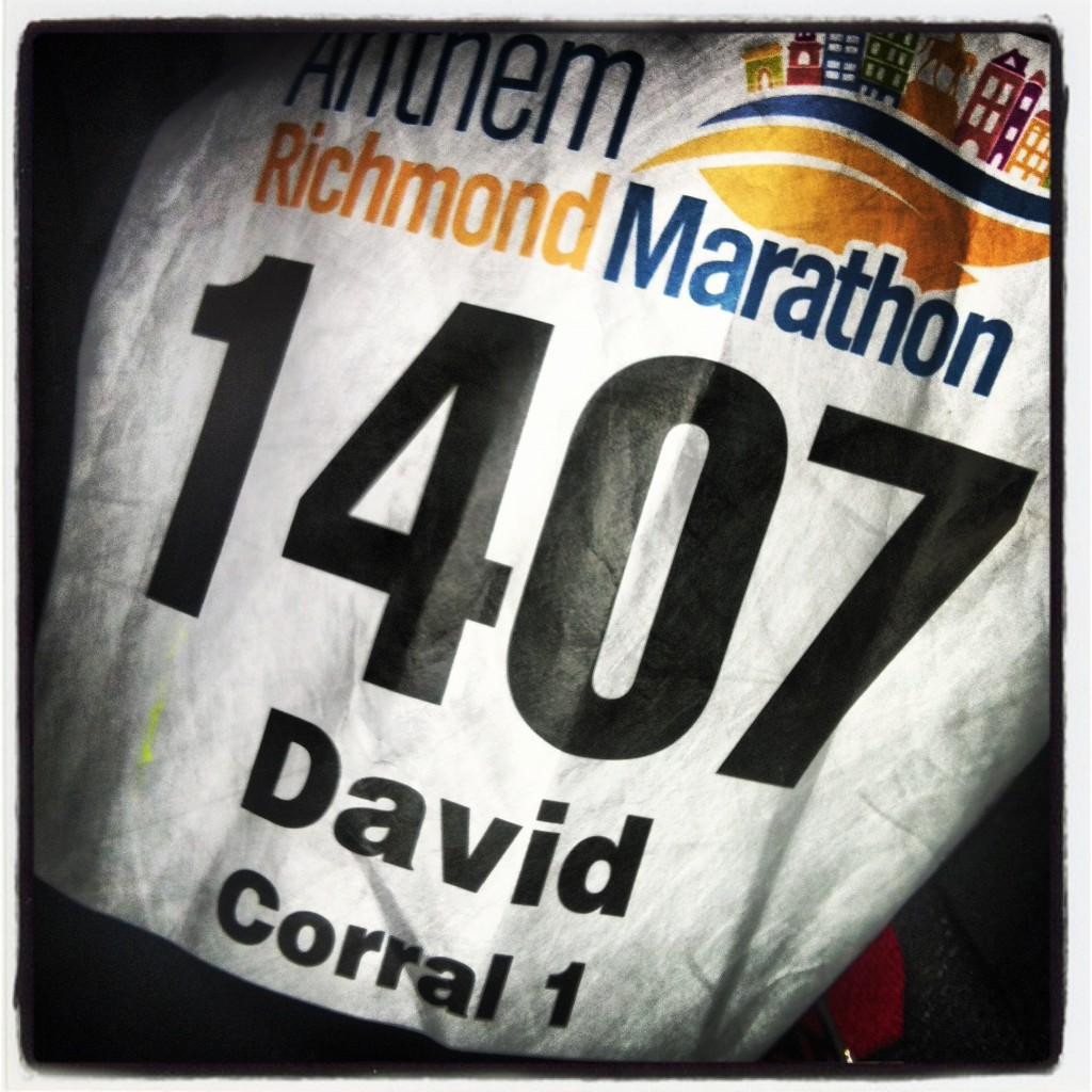 2012 Richmond Marathon bib