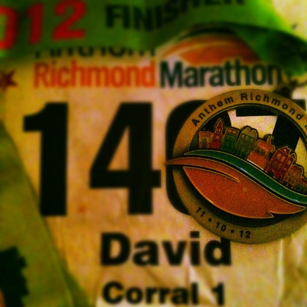 Richmond Marathon medal