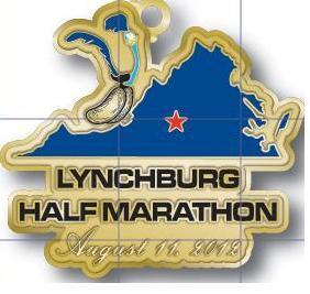 2012 Lynchburg Half Finisher Medal