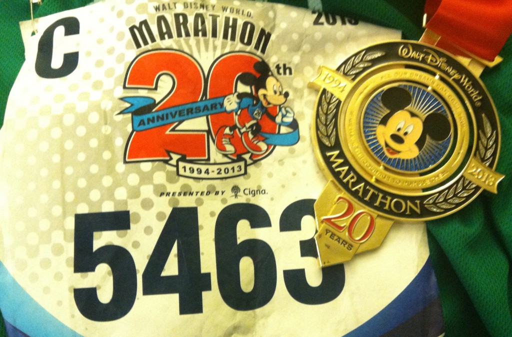 Walt Disney World Marathon medal, mickey