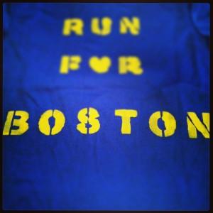 Running for Boston shirt