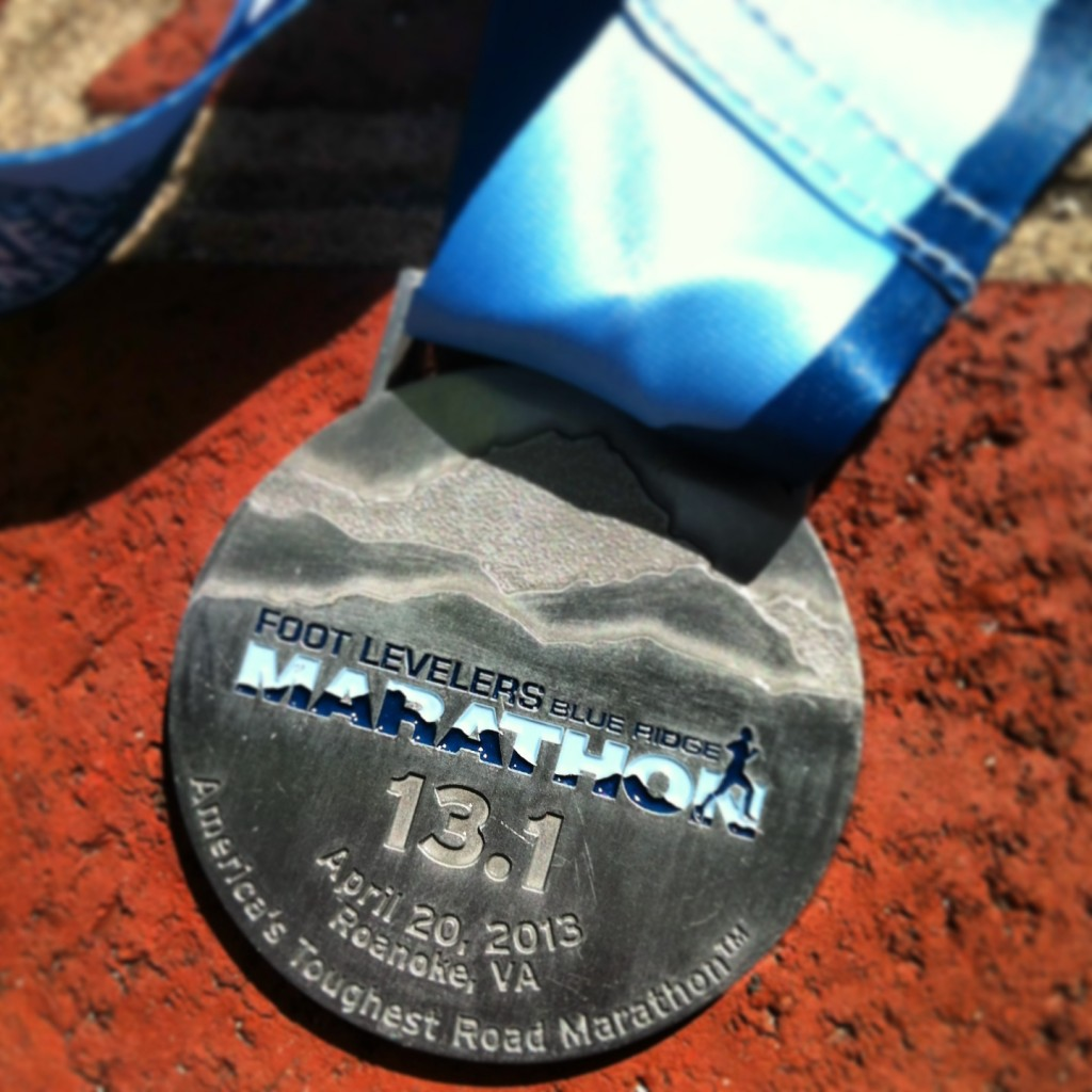 2013 Blue Ridge Half Marathon medal