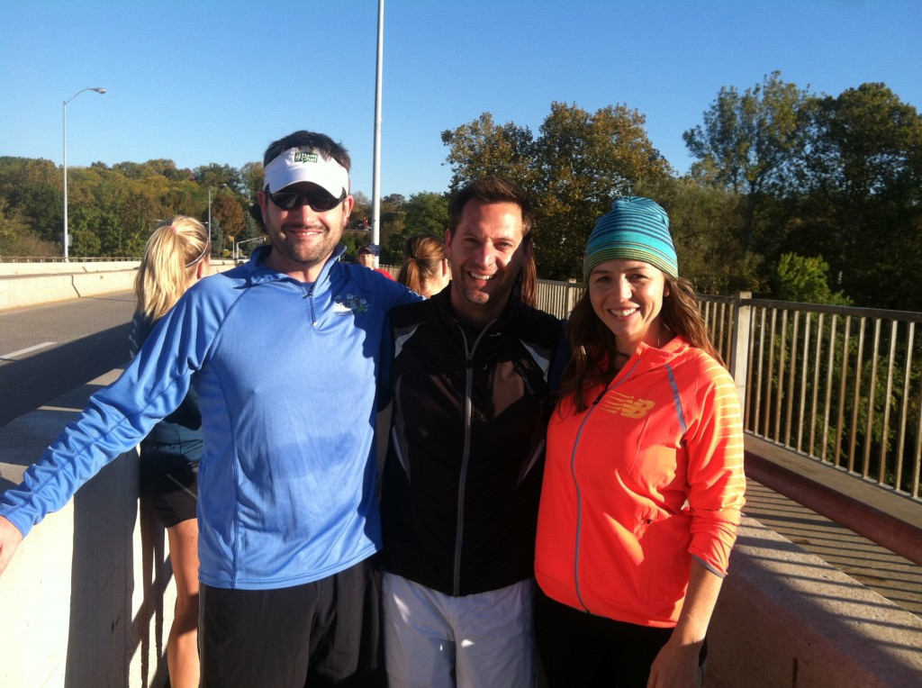 Scott and I with #fitblog founder Katy, our inspiration for #RunChat