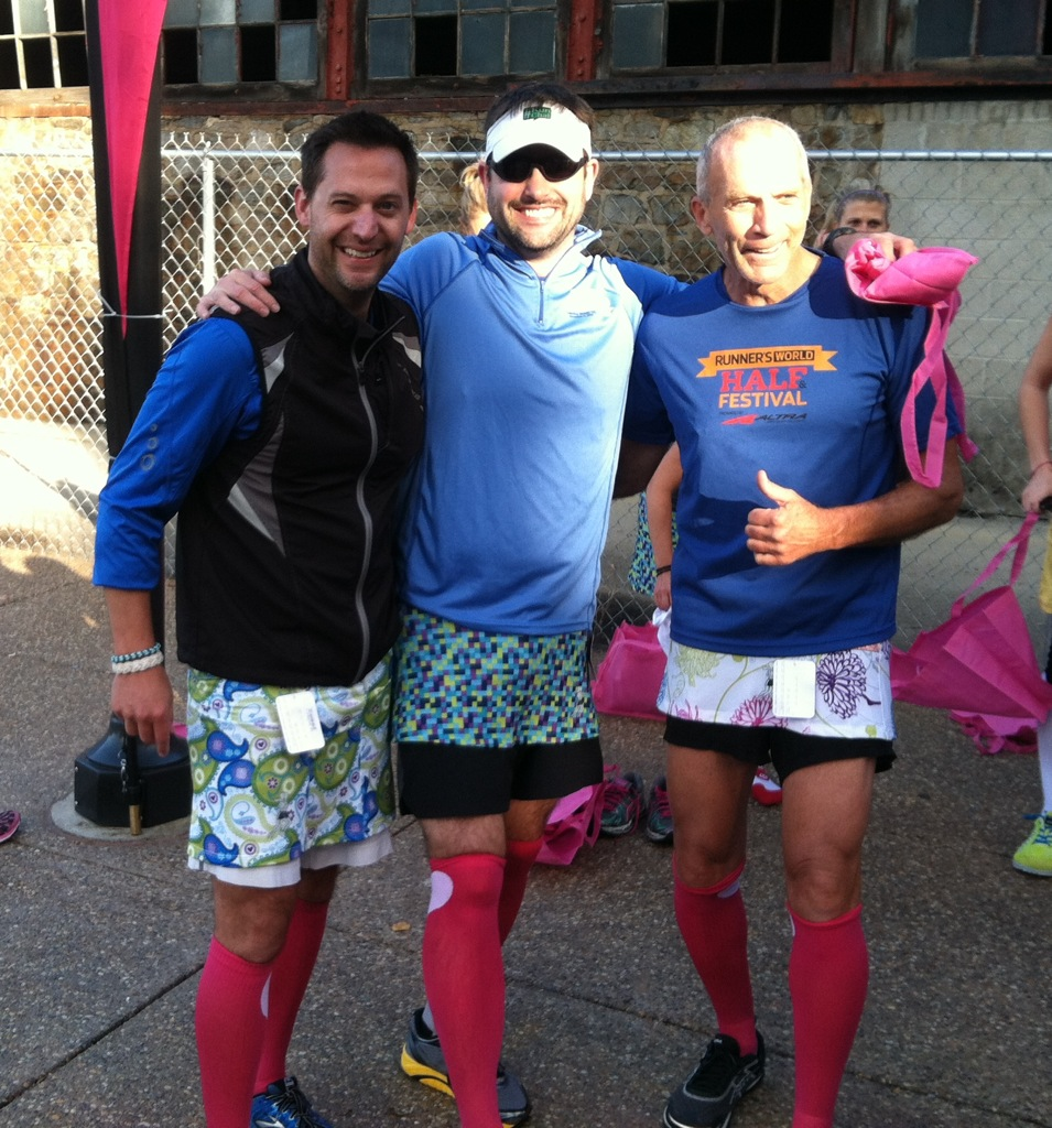 Thanks to Running Skirts for hooking up me, Scott and Bart Yasso with a skirt at the Skirt Olympics.