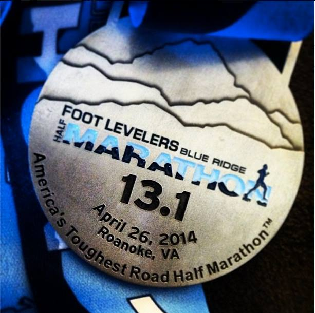 2014 Blue Ridge Half Marathon medal