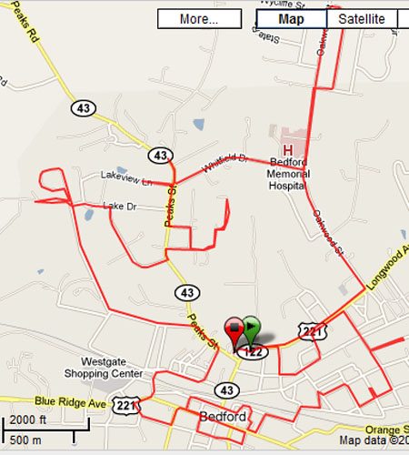 marathon training route