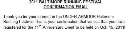 Baltimore Marathon, running