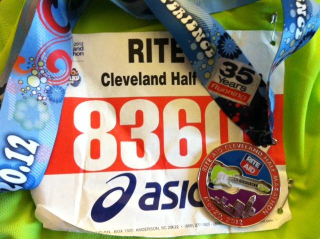 Cleveland Half Marathon bib