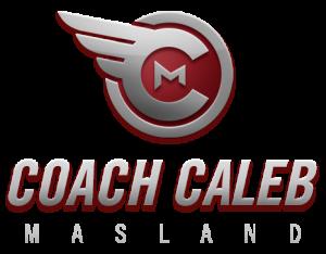 Coach Caleb logo, running