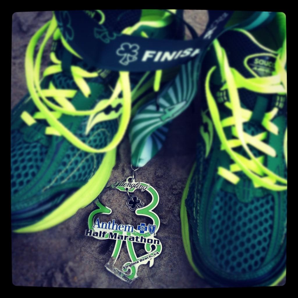 Shamrock Half Marathon medal