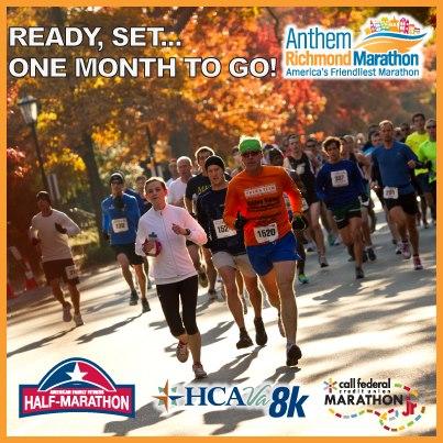 2012 Richmond Marathon, month to go
