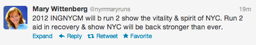 NYRR, NYCM, twitter
