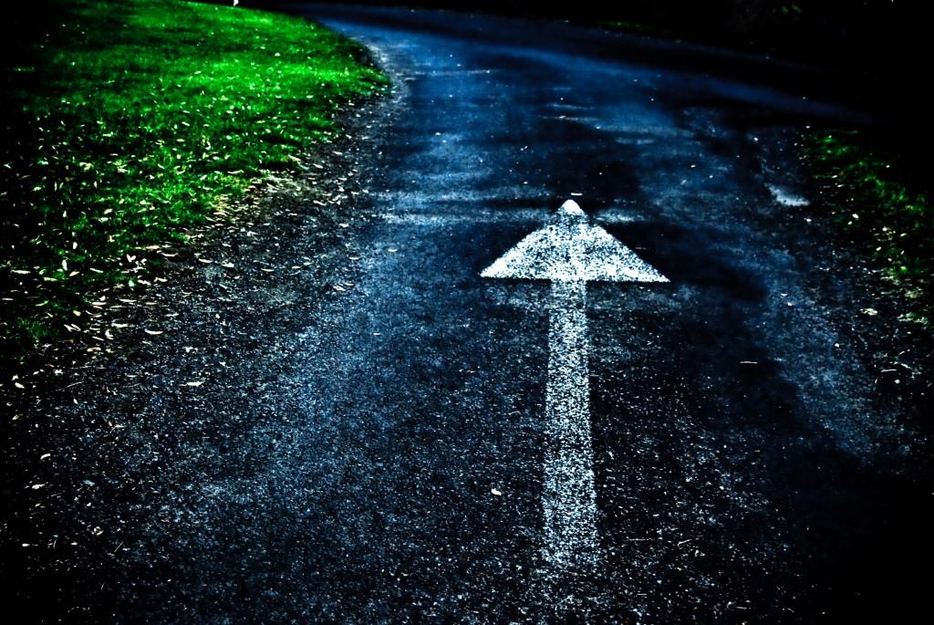 running road arrow