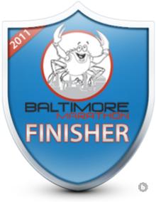 Baltimore Marathon finisher