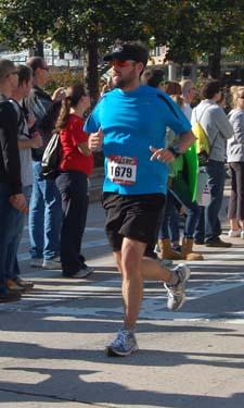 Halfway point, Baltimore Marathon