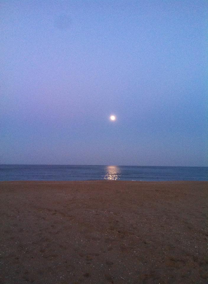 moonrise at Virginia Beach