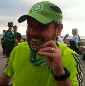 Post Shamrock Half 2012 with medal