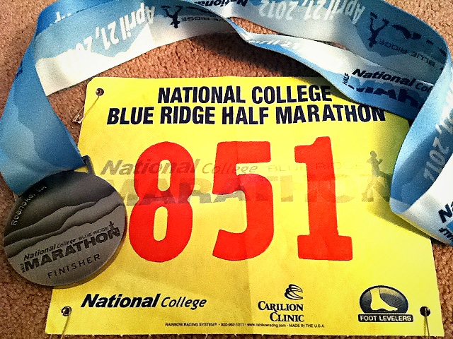 Blue Ridge Half Marathon finish