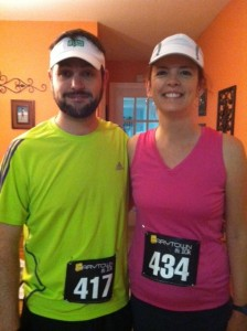 Pre-race with my sister