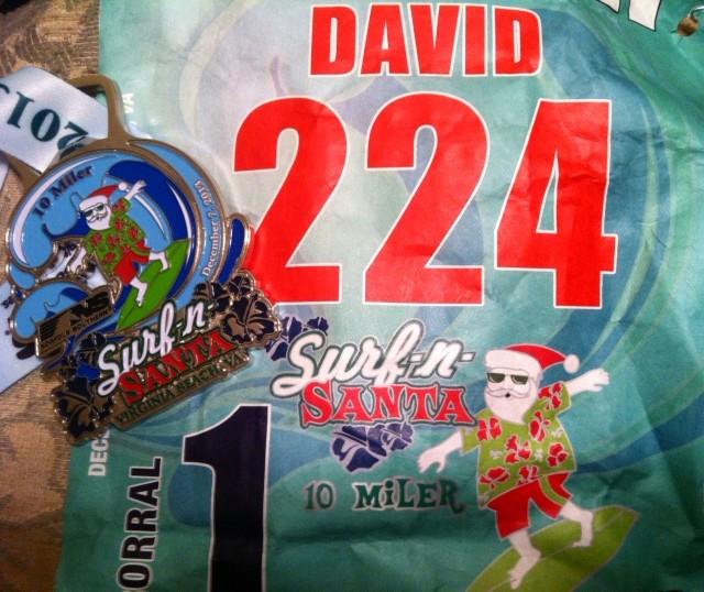 2013 Surf n Santa 10 Miler