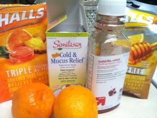 Medicine, running, cough