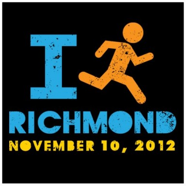 2012 Richmond Marathon training logo