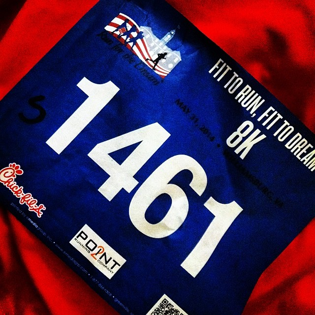 run for the dream 8k race bib