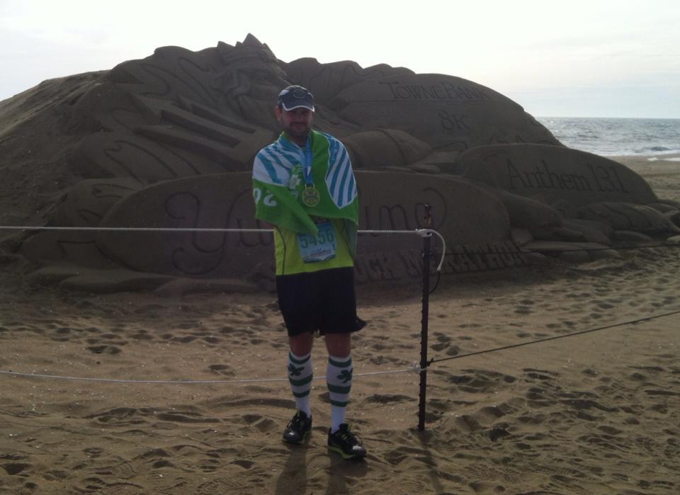 Shamrock Half Marathon finish