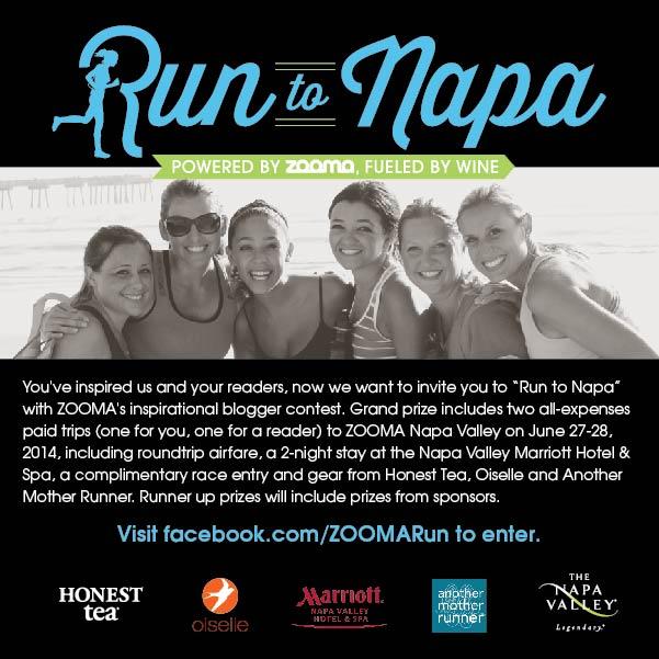 ZOOMA Napa blog giveaway