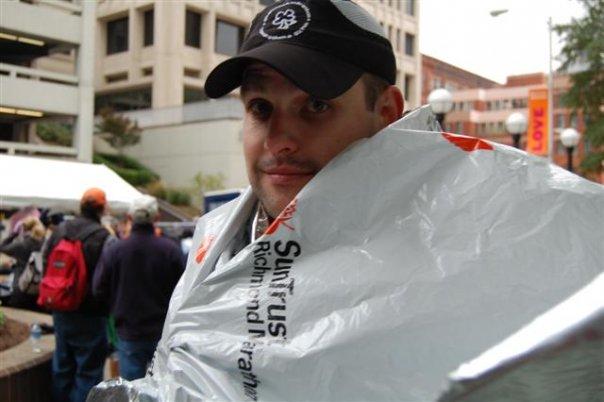 After my first marathon -- the Richmond Marathon --in November 2007.