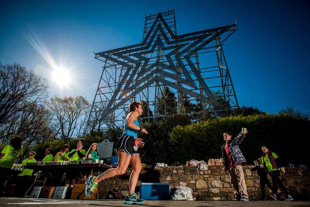 Blue Ridge Marathon at the Roanoke Star | photo credit: Roanoke Outside
