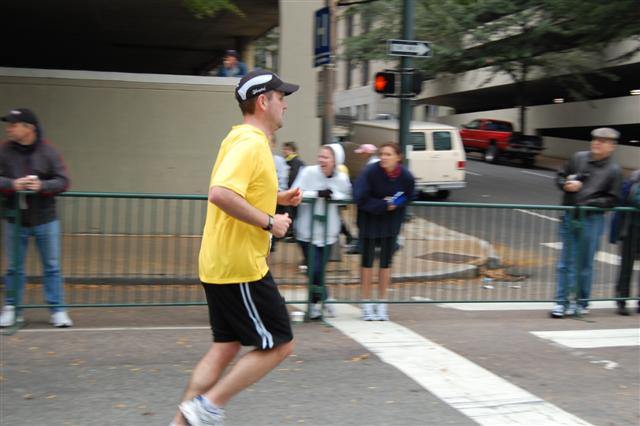Nearing the end of the Richmond Marathon in 2007.