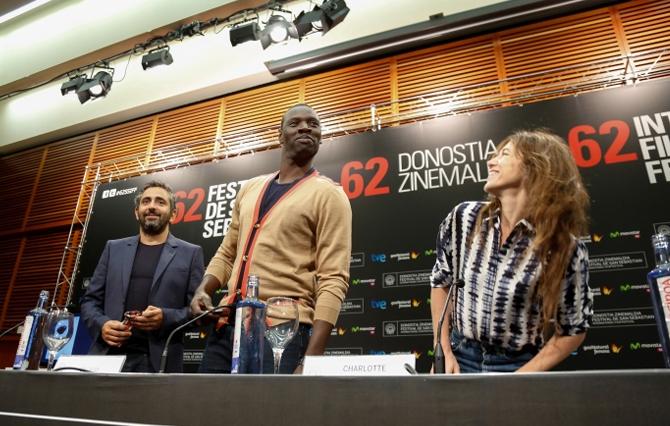 Olivier Nakache, Charlotte Gainsbourg, Omar Sy / SAMBA / Photo: Iñaki Pardo