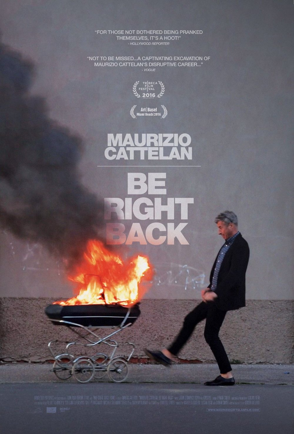 MaurizioCattelan Be Right Back poster.jpg