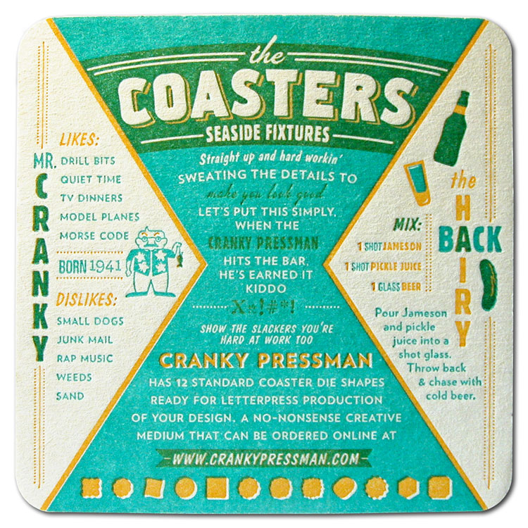 The Coasters back side