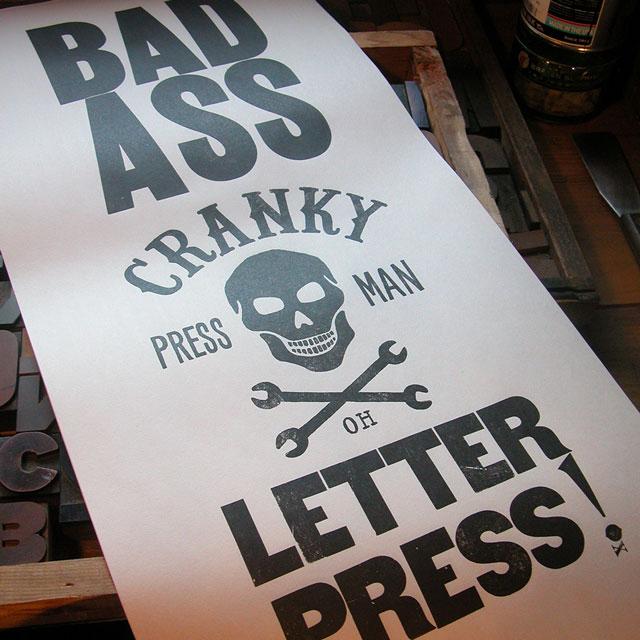 Badass Letterpress