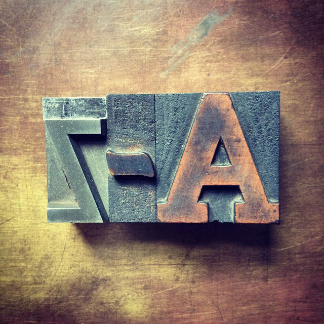 Letterpress A to Z on Instagram