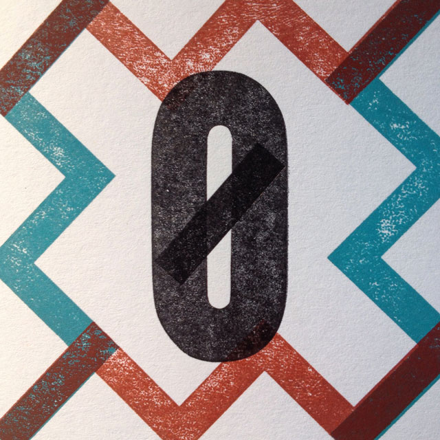 Z is for zero in a zig-zag border.