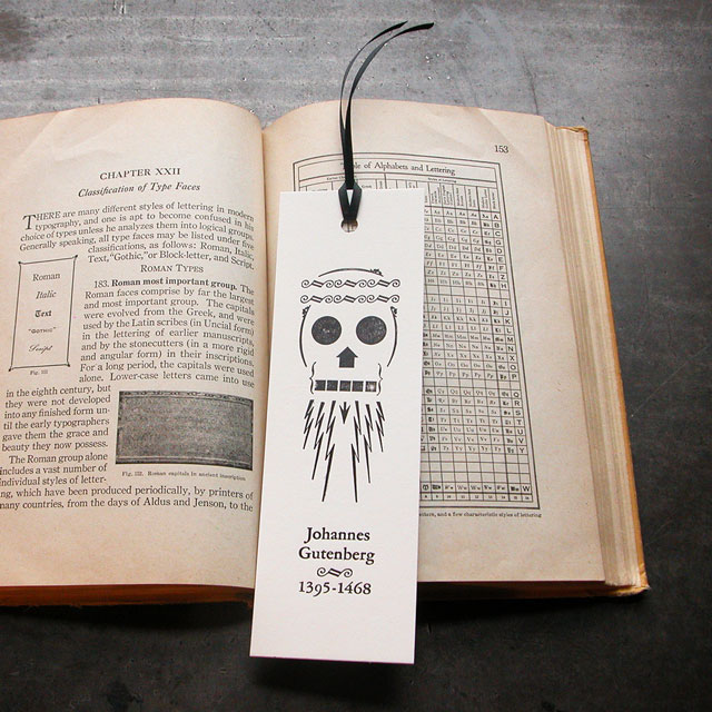 Gutenberg Letterpress Bookmark