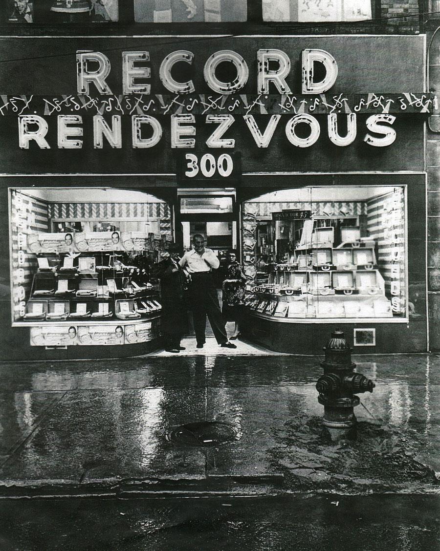 Record Rendezvous, Prospect Avenue, Cleveland Ohio, circa 1950s