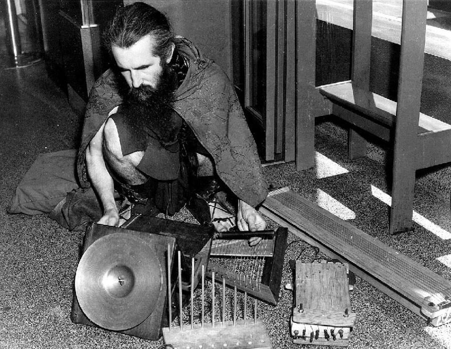 Moondog performing in NYC, circa 1953