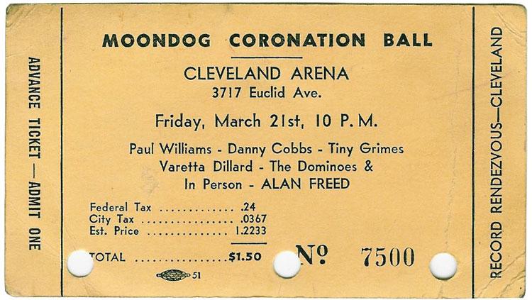 Moondog Coronation Ball Ticket