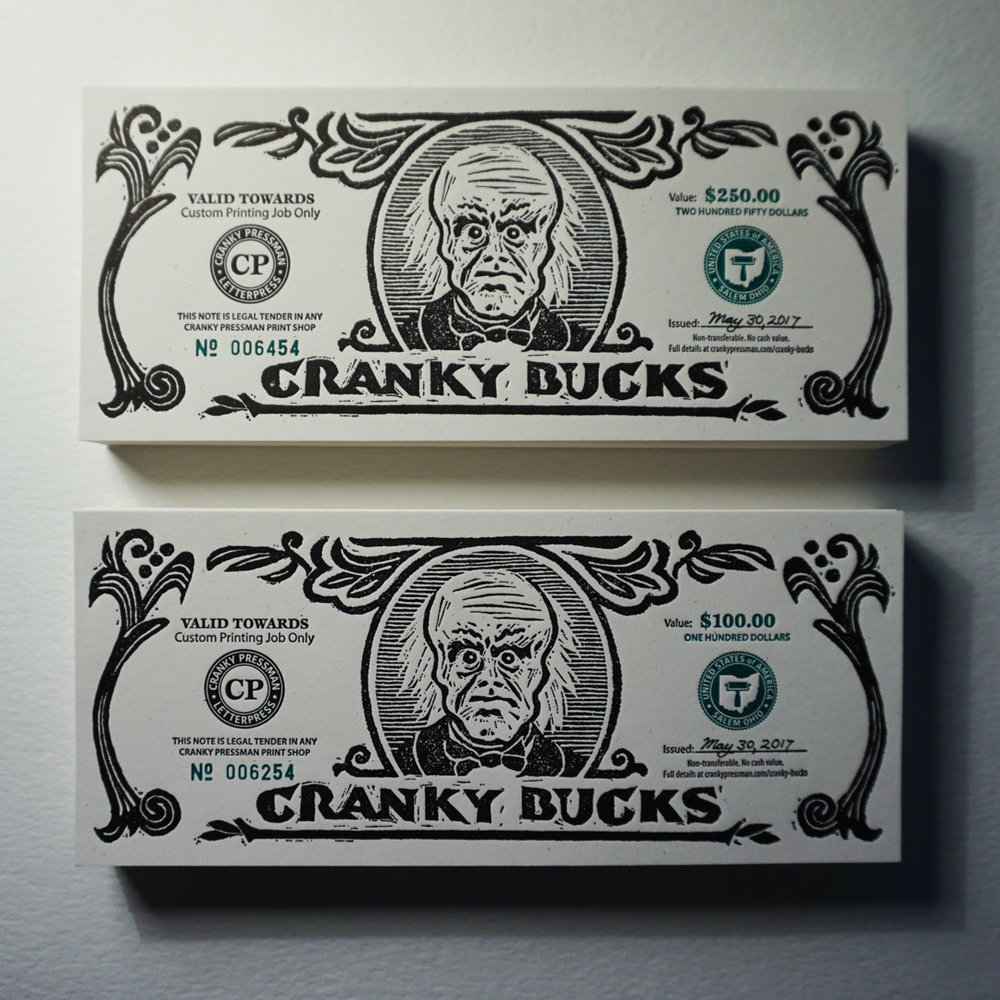 Finished Cranky Bucks Notes