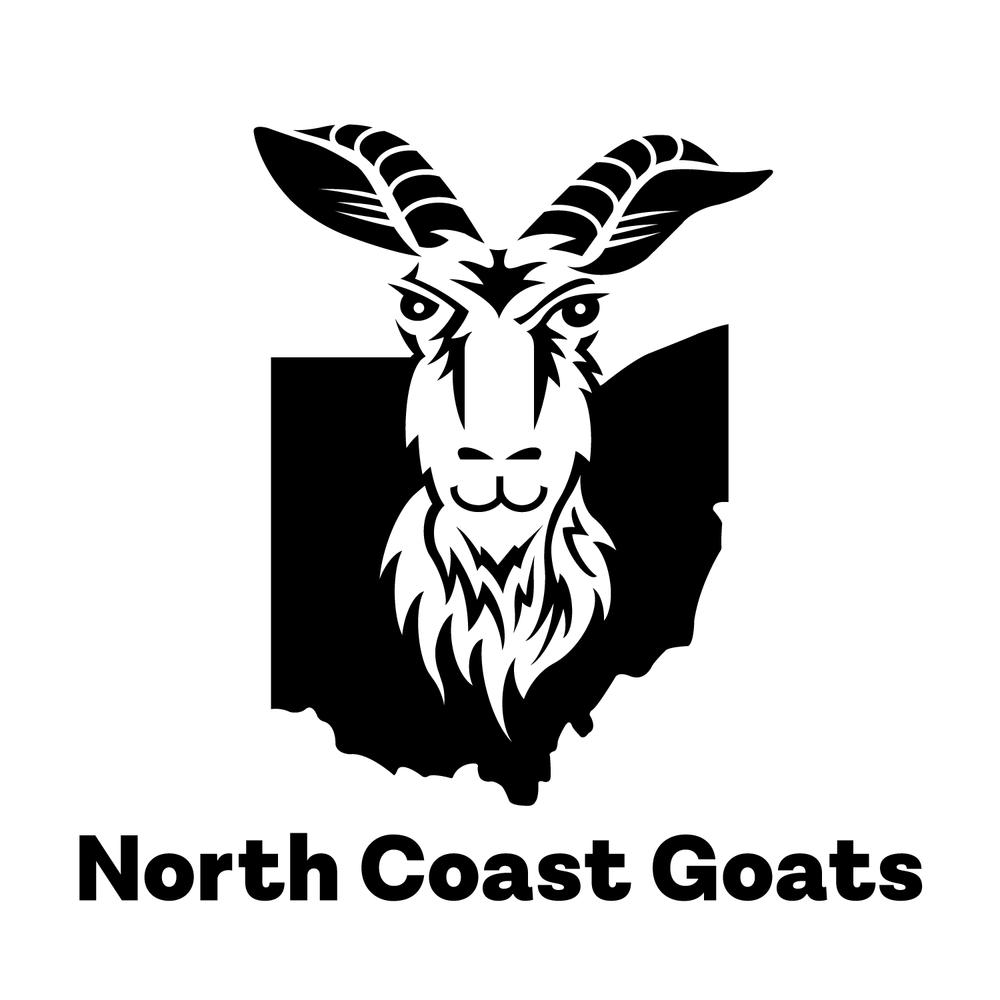 North Coast Goats logo and logotype design.