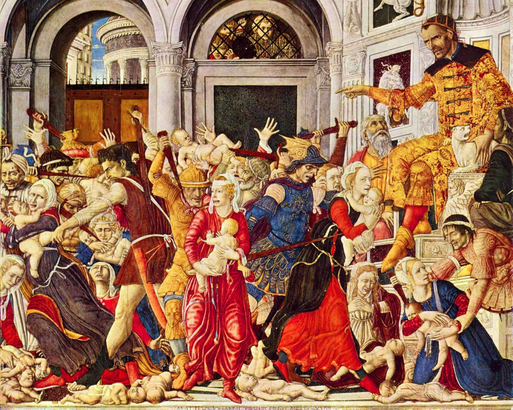 The Massacre of the Innocents at Bethlehem.  By Matteo di Giovanni,  via Wikimedia Commons