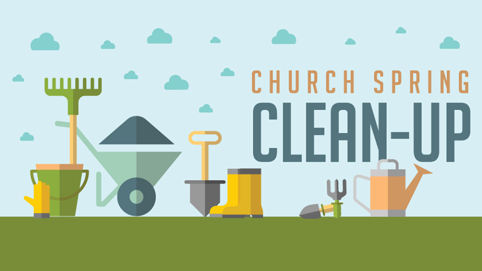 Image result for church spring clean up