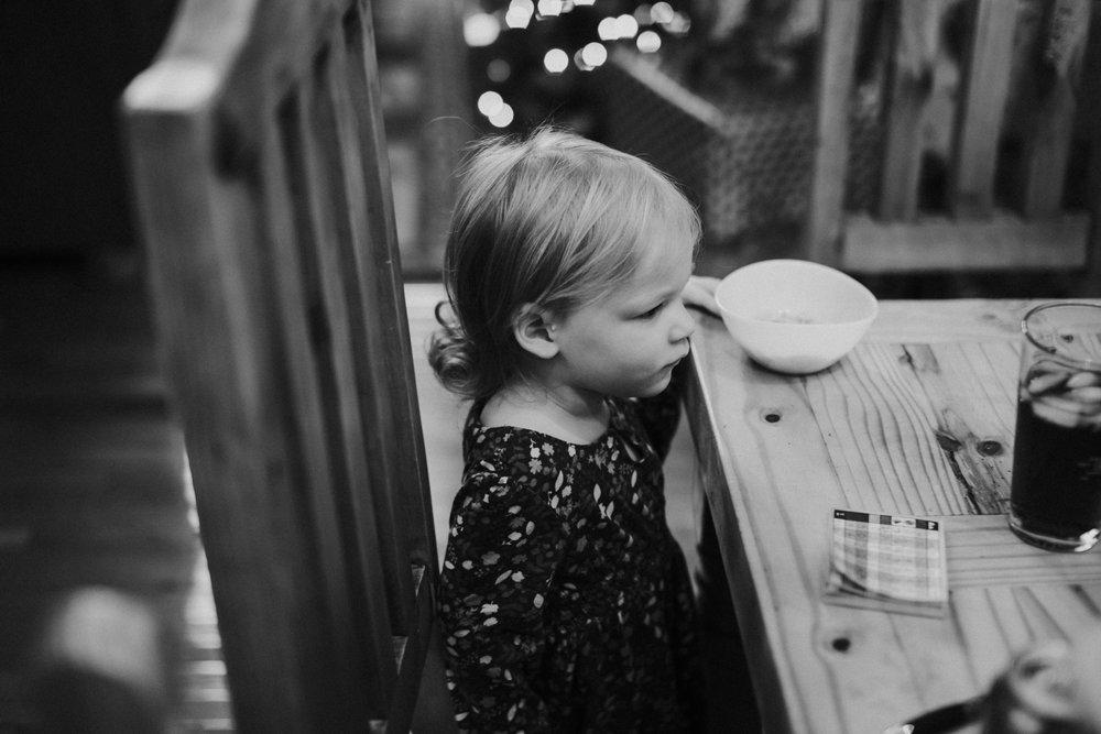 Christmas 2016 | Hannahill Photography | Branson, MO | Documentary Family Photography | a portrait of my niece waiting for breakfast